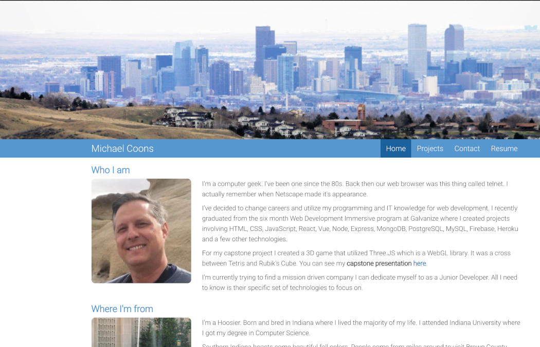 Michael Coons - Software Engineer Site - Home